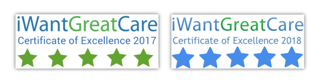 Certificate of Excellence 2017 and 2018